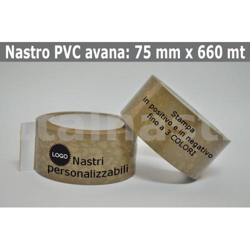 Confezioni Nastri Adesivi PVC 75 mm. x 660 mt.