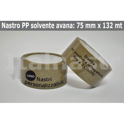 Confezione Nastri Adesivi PP Solvente 75 mm. x 132 mt.